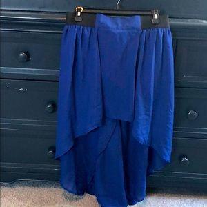 Juniors Large Hi Low Skirt